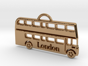 London Bus in Polished Brass