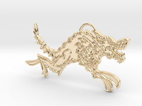 Hati in 14k Gold Plated Brass