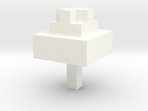 Minecraft Inspired Tree in White Processed Versatile Plastic