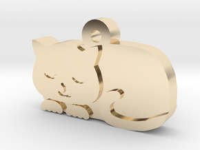 Cat Charm in 14K Yellow Gold