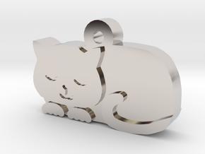 Cat Charm in Platinum