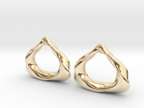 Sculpted Open Teardrop  in 14k Gold Plated Brass