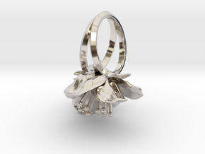 Double Cherry Blossom Ring in Platinum: 5.5 / 50.25