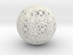 Vector Equilibrium Great Circles, Large in White Natural Versatile Plastic