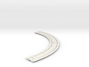 HO Concrete Trolley Track 7 CURVE in White Strong & Flexible