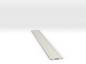 HO Cobble Stone TrolleyTrack 12 in White Natural Versatile Plastic