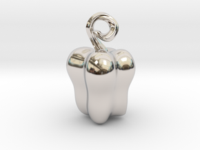 Bell Pepper in Rhodium Plated Brass