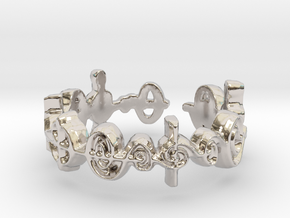 """""""Cast Out Fear"""" Surakian Vulcan Ring- Cut Style in Rhodium Plated Brass: 7.5 / 55.5"""
