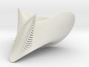 Maurer Rose 3D #3 in White Natural Versatile Plastic