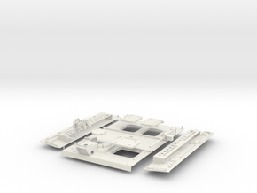 Stryker APC Back Kit(1:18 Scale) in White Natural Versatile Plastic