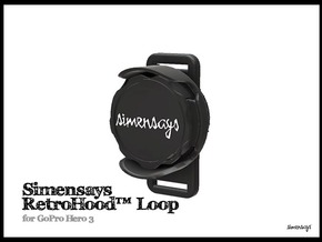 Simensays RetroHood™ (Loop), GoPro Lens hood in Black Natural Versatile Plastic
