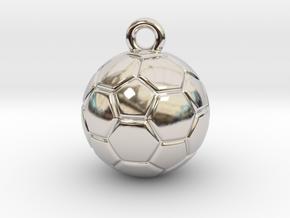 Soccer Ball Earring in Platinum