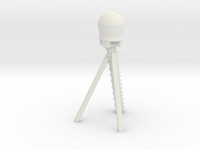 1/96 scale O.H. Perry Mid-ship Mast Dome stand in White Natural Versatile Plastic