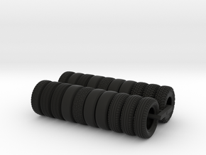 Spare Tires For Tugboat Set in Black Natural Versatile Plastic