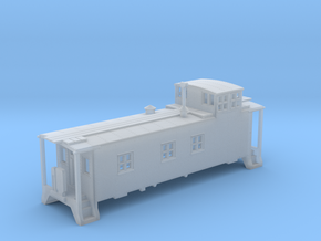 N scale DRGW 01400 Series Caboose  in Smooth Fine Detail Plastic