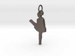 Irish Dancer Pendant in Polished Bronzed Silver Steel