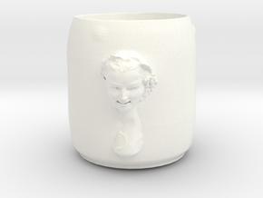 Bacchante Cup in White Processed Versatile Plastic