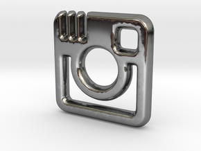 Insta Charm - 11mm in Fine Detail Polished Silver