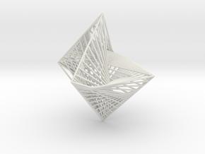 String Art -Octahedron in White Natural Versatile Plastic