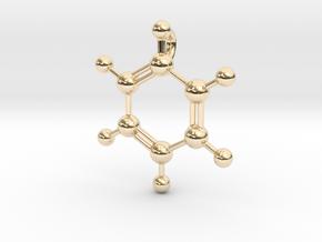 Benzene Pendant in 14k Gold Plated Brass
