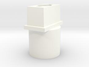 Power Wheels Hub in White Processed Versatile Plastic