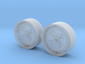 1/64 8000/9000/8600/9600 Ford Tractor wheels in Smooth Fine Detail Plastic