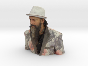 Troy Timpel - Heroes of Tattoo 150mm bust in Full Color Sandstone