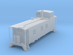 HO scale DRGW 01400 series caboose in Frosted Ultra Detail