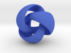 Equivoluminous Trefoil in Blue Processed Versatile Plastic