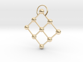 9 point pendant in 14K Yellow Gold