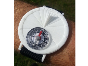 27.75N Sundial Wristwatch For Working Compass in White Natural Versatile Plastic