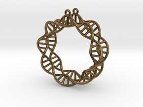 Earring DNA in Polished Bronze