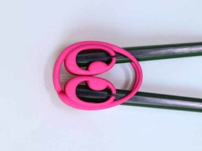 Chopsticks Helper in Pink Processed Versatile Plastic