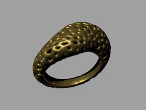 Volcanic stone ring   in Raw Brass: 8.5 / 58