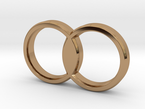 Overlapping Circles Pendant in Polished Brass