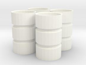 1/64 Triple Rims for Standi 18.4-42 in White Processed Versatile Plastic