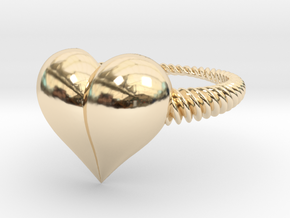 Size 10 Heart Ring in 14K Yellow Gold