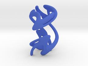 Sculpture #1 in Blue Processed Versatile Plastic