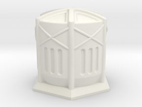 Gas Storage Tank 10m in White Natural Versatile Plastic