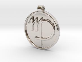 Zodiac KeyChain Medallion-VIRGO in Platinum