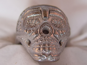 Skull Ring 2016 in Polished Nickel Steel