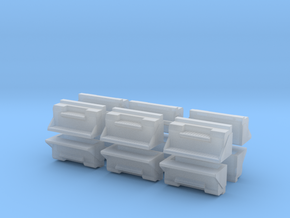 "1/87th kenworth 36"" toolbox builders pack of 12 in Smooth Fine Detail Plastic"