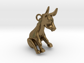 Donkey Pendant in Natural Bronze