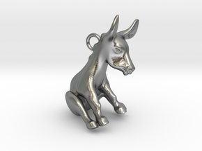 Donkey Pendant in Natural Silver