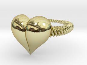 Size 8 Heart Ring in 18k Gold