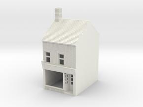 RHS-5 N Scale Rye High Street building 1:148 in White Natural Versatile Plastic