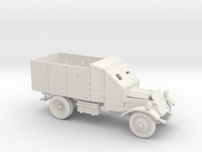 Lancia Armoured Truck, 1921 (20mm - 1/72) in White Strong & Flexible