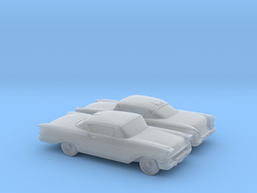 1/148 2X 1958 Chevrolet Impala in Smooth Fine Detail Plastic