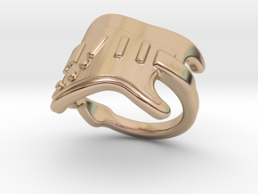 Electric Guitar Ring 29 - Italian Size 29 in 14k Rose Gold Plated Brass