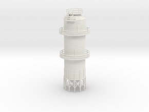 'N Scale' - Grain Dryer - 18' dia. - 67ft tall in White Strong & Flexible